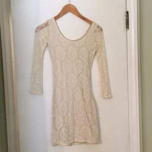 Off-White Lace Hollister Dress